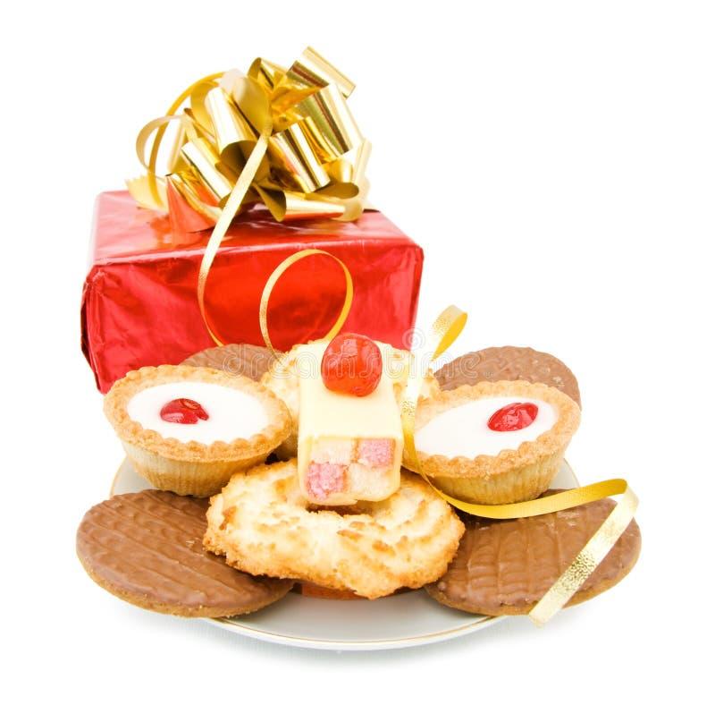Réception et célébrations avec les bonbons et le cadeau images stock
