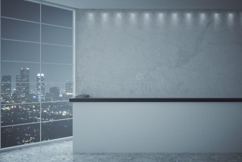 Réception et vue de ville de nuit illustration libre de droits