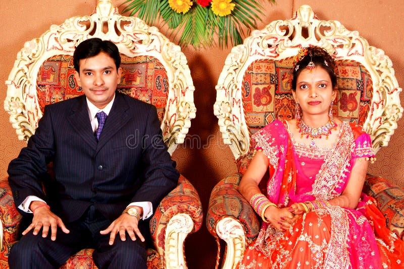 Réception indienne de mariage image libre de droits