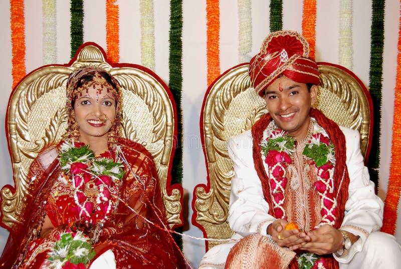 Réception indienne de mariage photo libre de droits