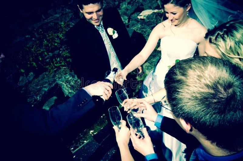Réception nuptiale photos stock