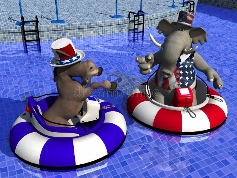 Réception politique - bateaux de butoir illustration libre de droits
