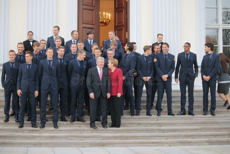 Réception pour l'équipe allemande photographie stock