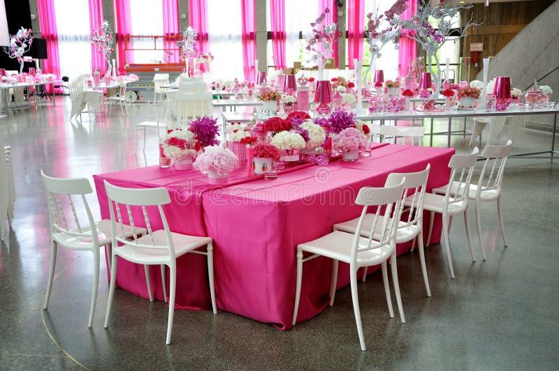 Réception rose photos libres de droits