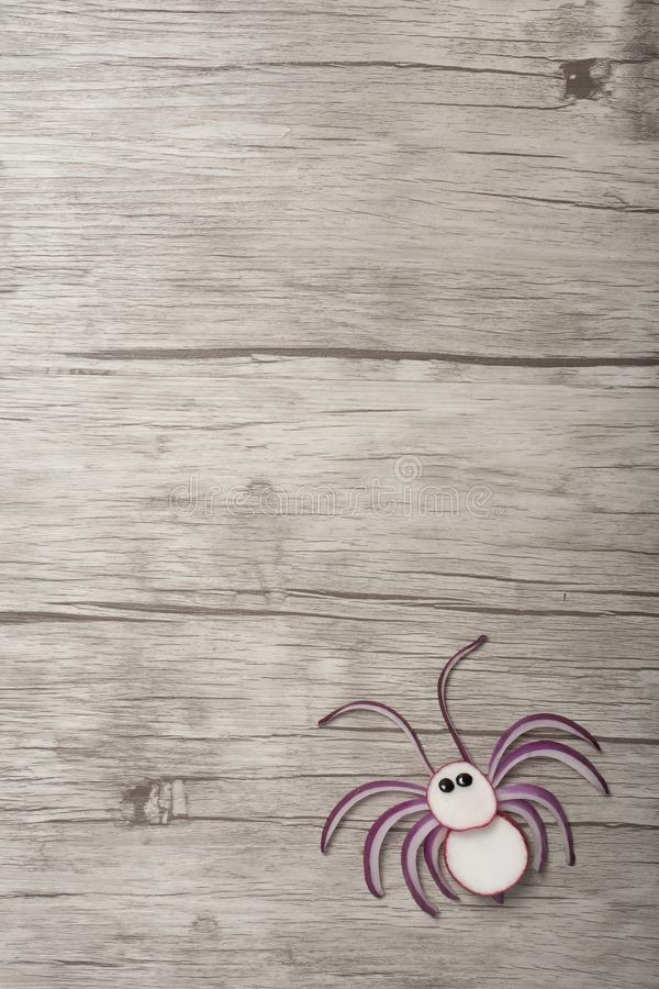 Réception simple pour faire une araignée avec des légumes frais image stock