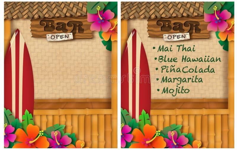 Réception tropicale illustration stock
