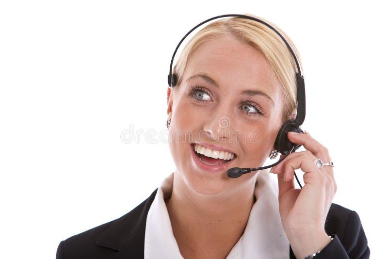 réceptionniste heureux images stock