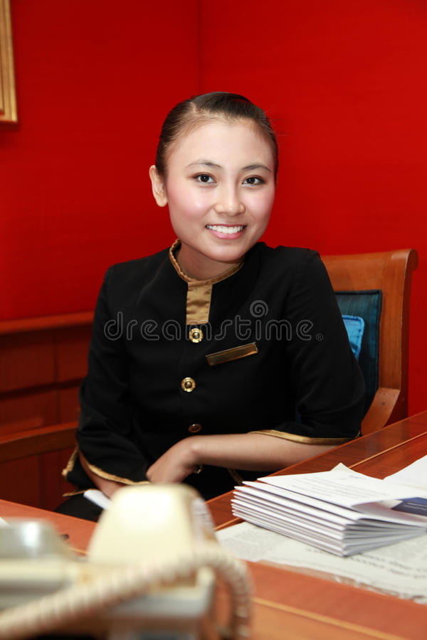 Réceptionniste ou secrétaire photo libre de droits