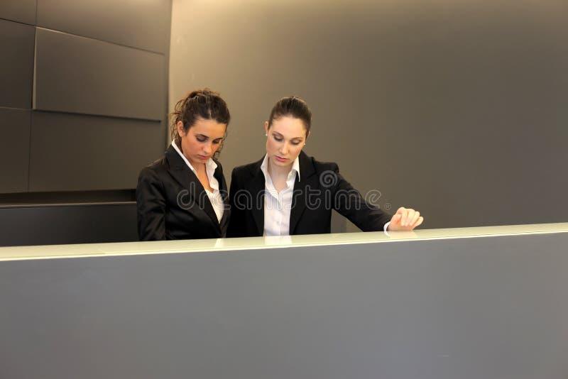 Réceptionnistes photographie stock