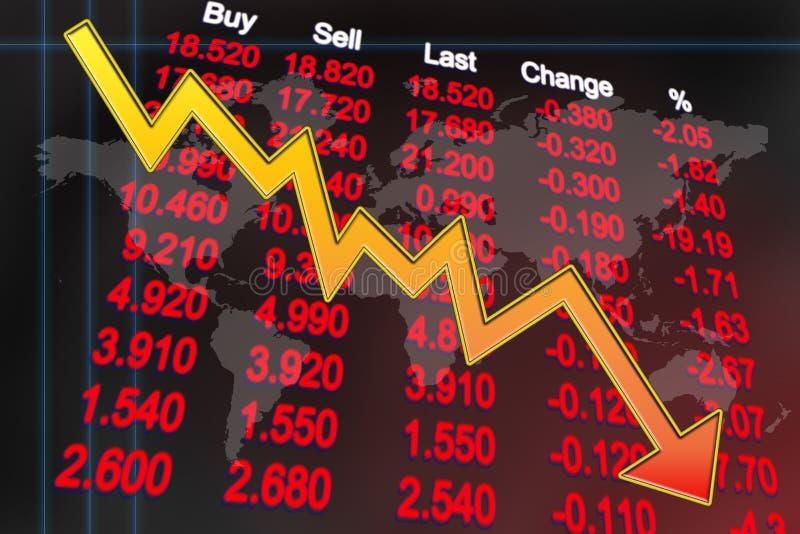 Récession d'économie globale illustration de vecteur