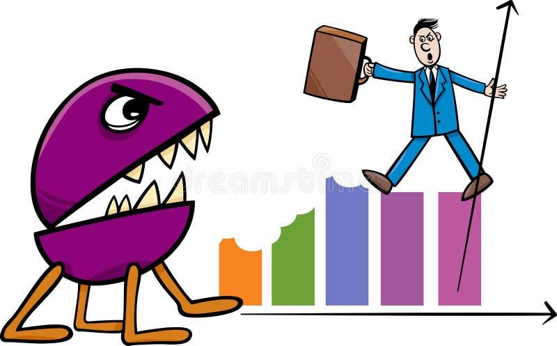 Download Récession Dans L'illustration De Bande Dessinée D'affaires Illustration de Vecteur - Illustration du récession, retrait: 45360308