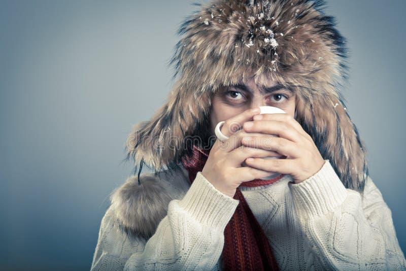 Réchauffage de mâle de Winterwear photo stock