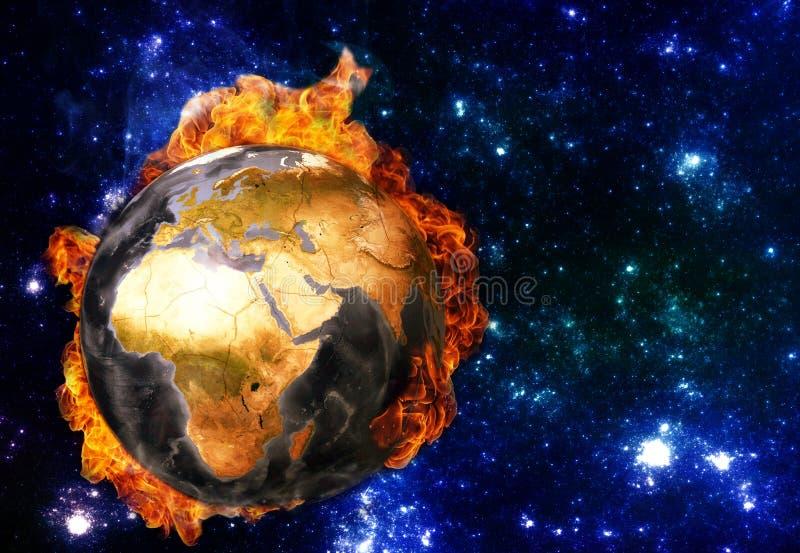 Réchauffement global Éléments de cette image meublés par la NASA illustration libre de droits