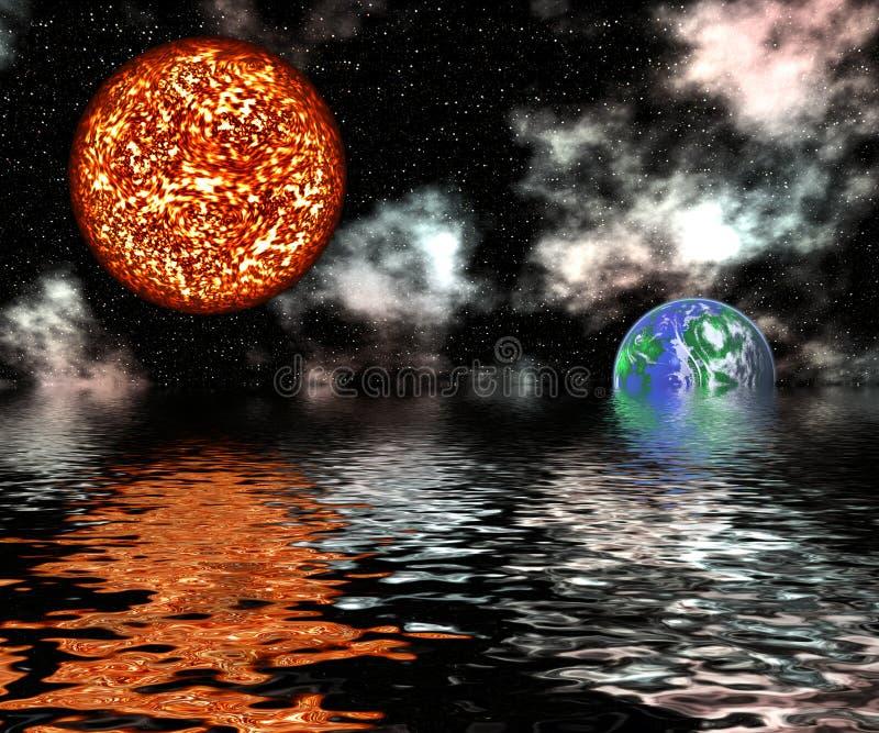 Réchauffement global illustration de vecteur