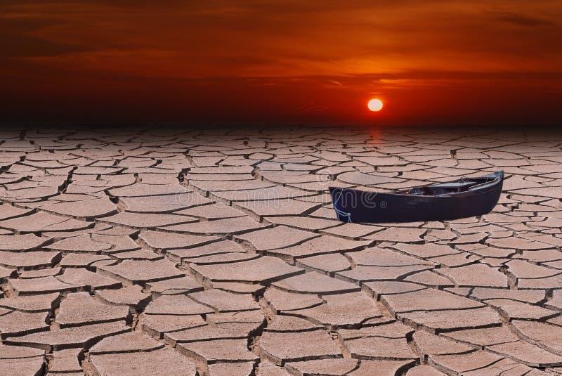 Réchauffement global ou chaleur rouge photos libres de droits