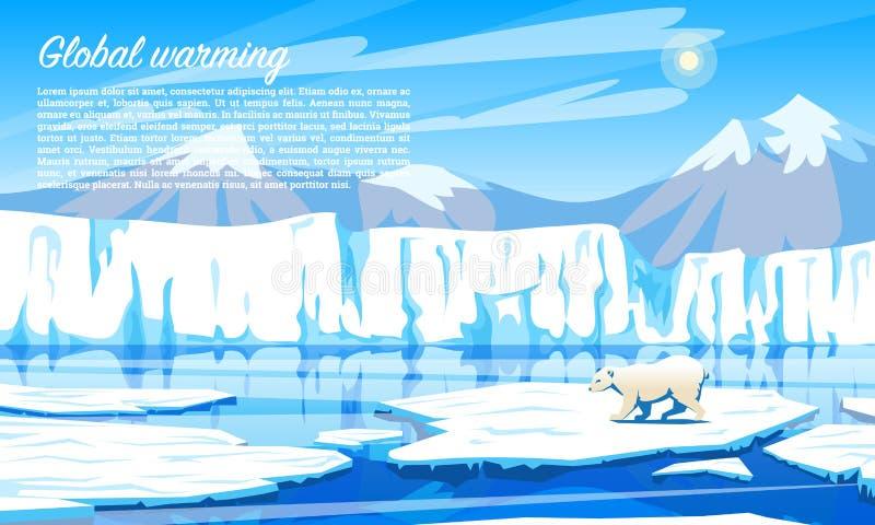 Réchauffement global Problème écologique Coucher du soleil spectaculaire Catastrophe écologique Pollution atmosphérique Polaire c illustration stock