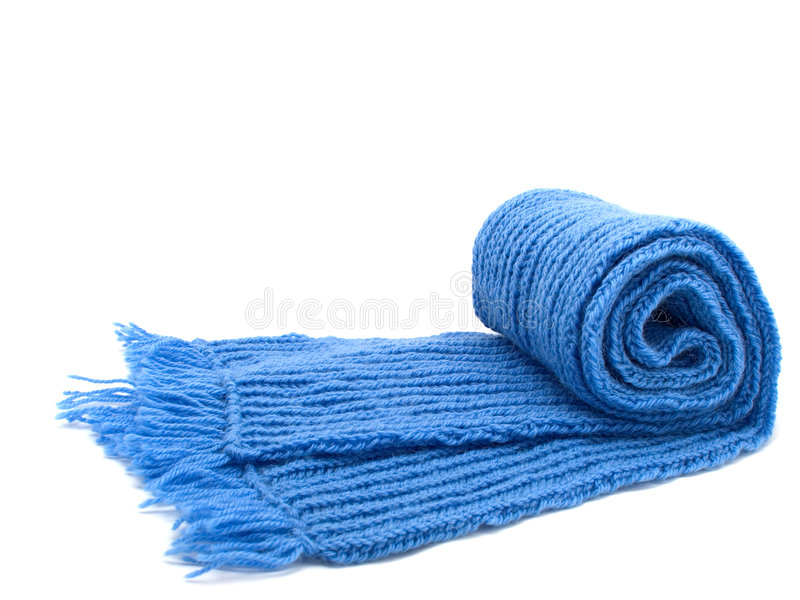 Réchauffez l'écharpe tricotée photos stock