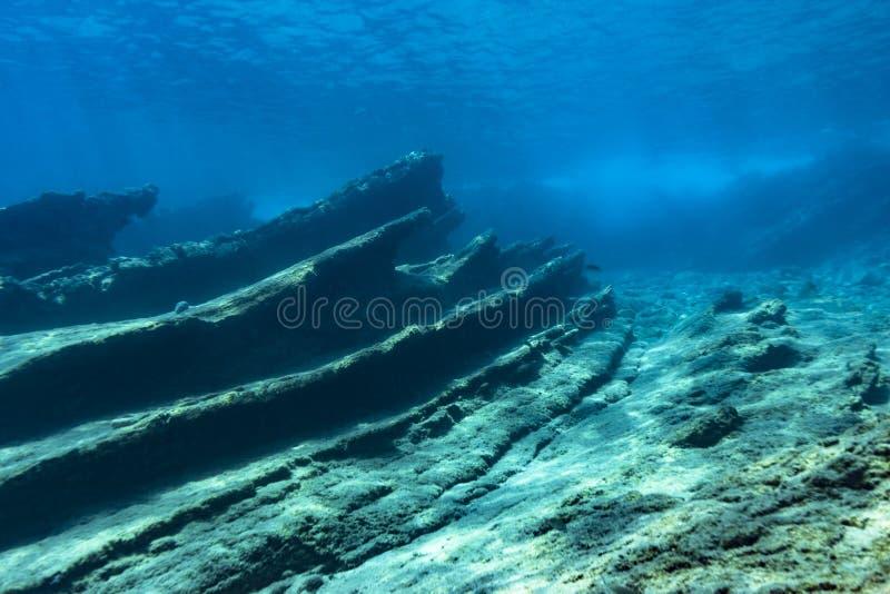 Récif coralien en mer Méditerranée photos stock