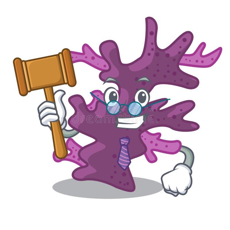Récif coralien pourpre de juge la mascotte de forme illustration libre de droits