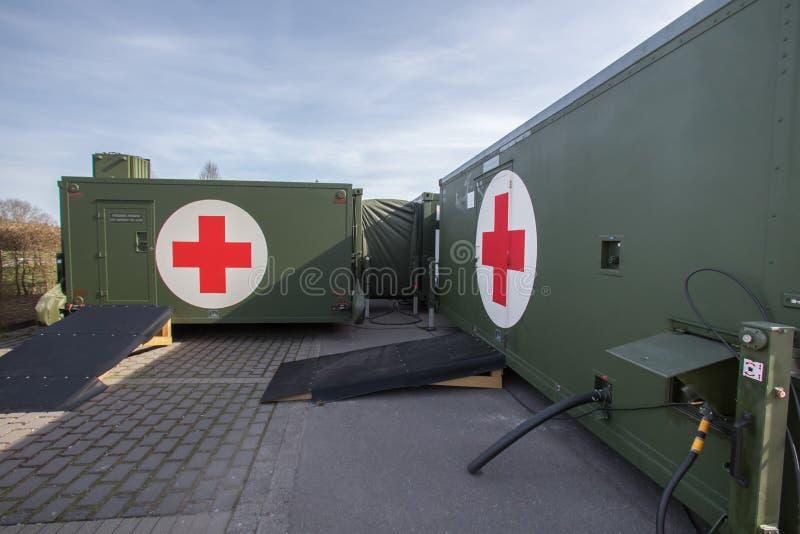 Récipient allemand d'hôpital militaire photo libre de droits