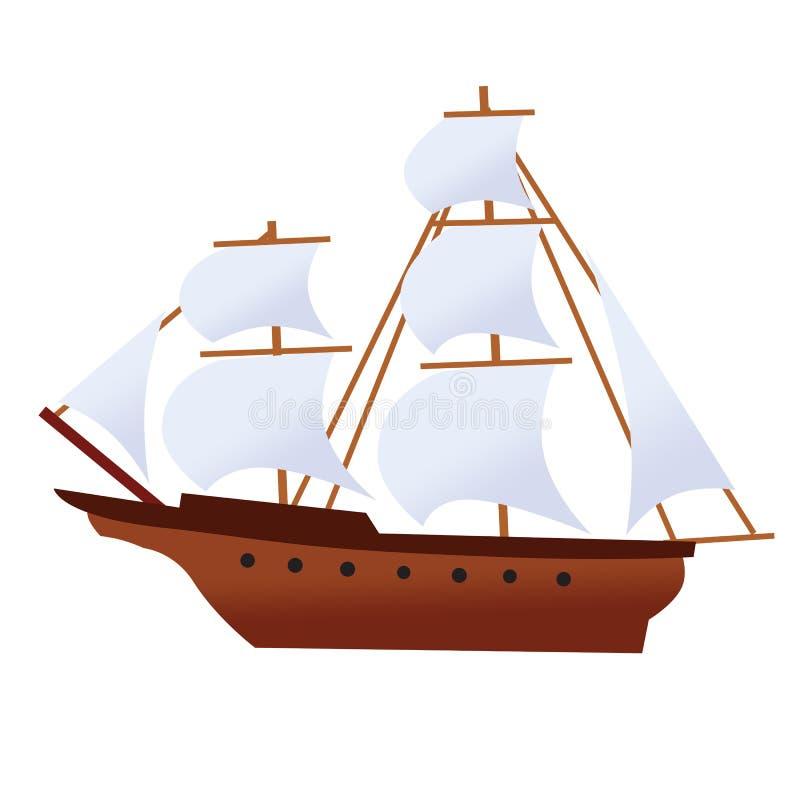 récipient de bateau de pirate d'ordinateur de secours de corsaire images stock