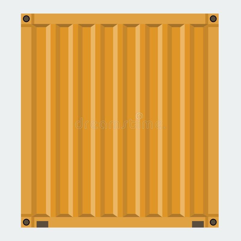 Récipient de cargaison pour embarquer avec la conception plate de couleur solide illustration stock
