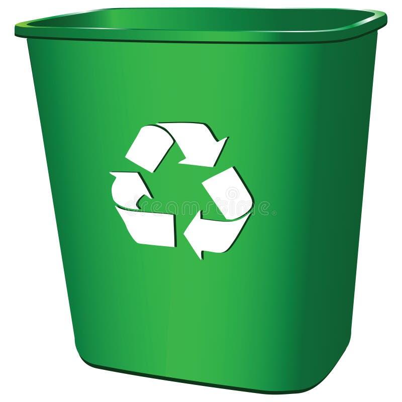 Récipient de déchets illustration stock