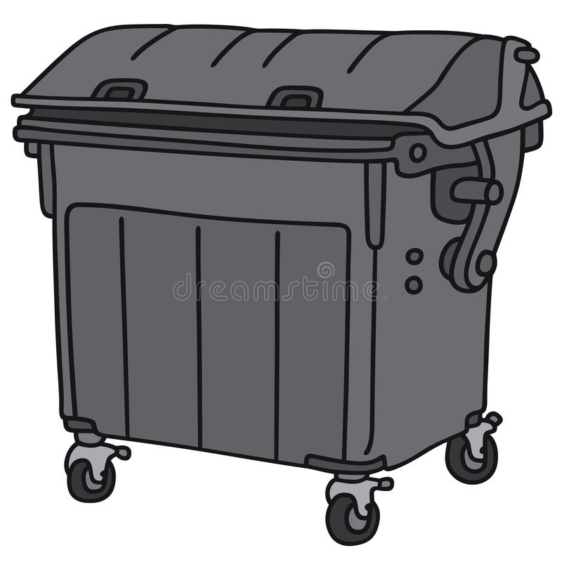 Récipient de déchets illustration libre de droits