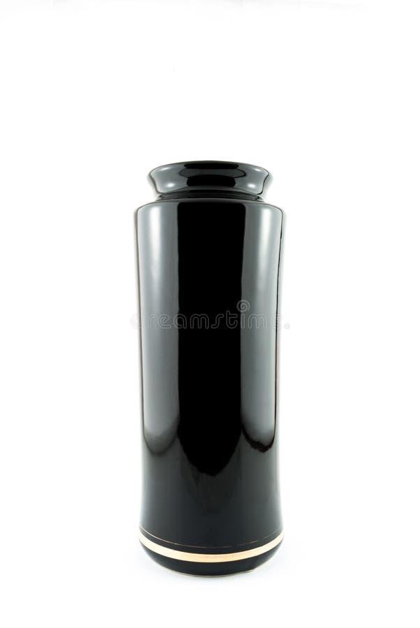 Récipient de luxe noir de bouteille image libre de droits