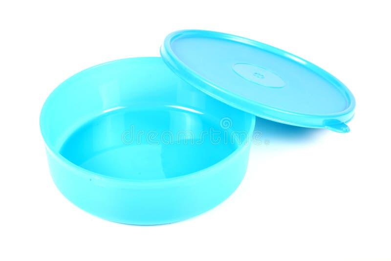 Récipient de nourriture en plastique image stock