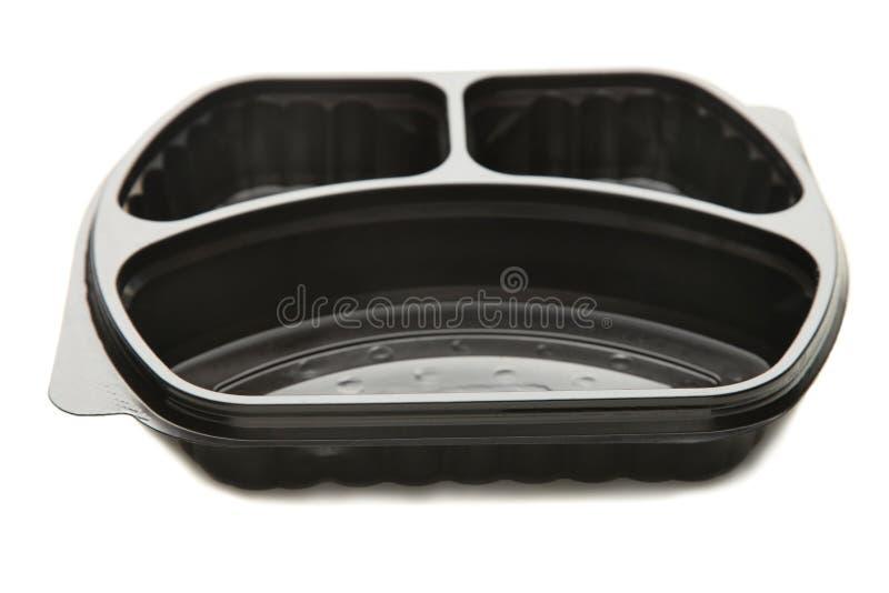 Récipient de nourriture noir photos stock