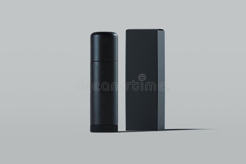 Récipient en plastique cosmétique de baume à lèvres Paquet de produit de beauté rendu 3d illustration stock