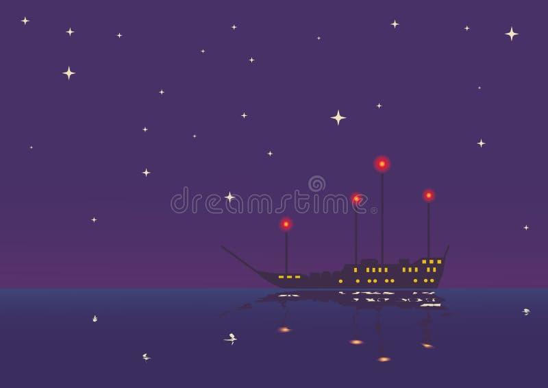 Récipient la nuit illustration stock