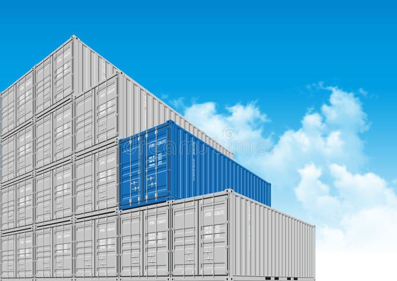 Récipients de cargaison d'expédition pour la logistique et le transport illustration libre de droits