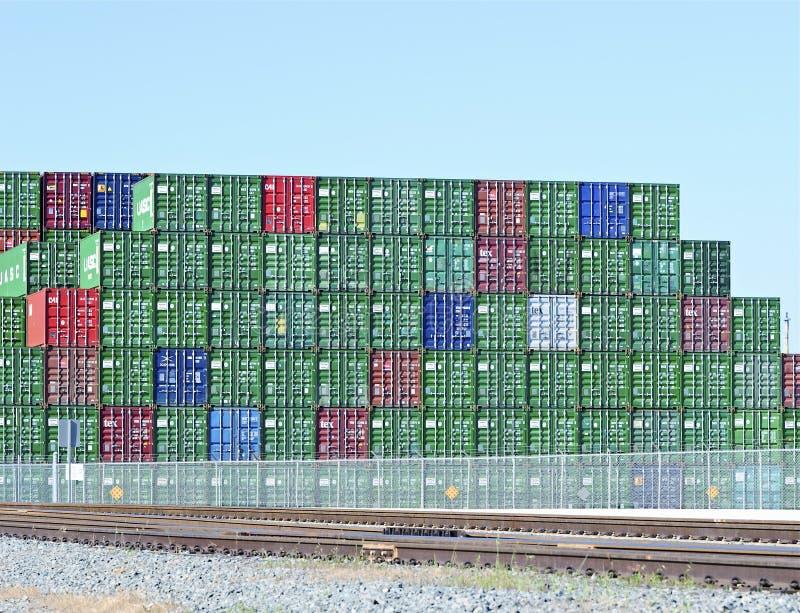 Récipients de chantier naval de port de Los Angeles photographie stock