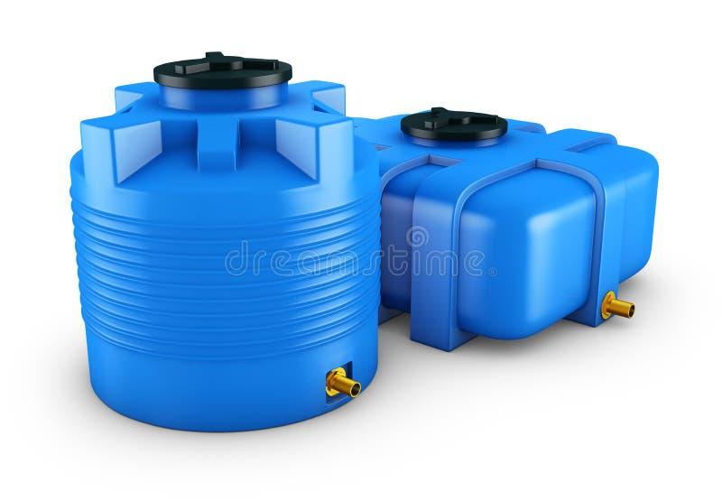 Récipients pour l'eau illustration libre de droits