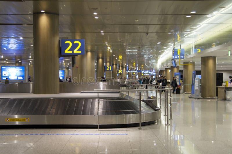 Réclamation de bagage d'aéroport d'Incheon photos libres de droits