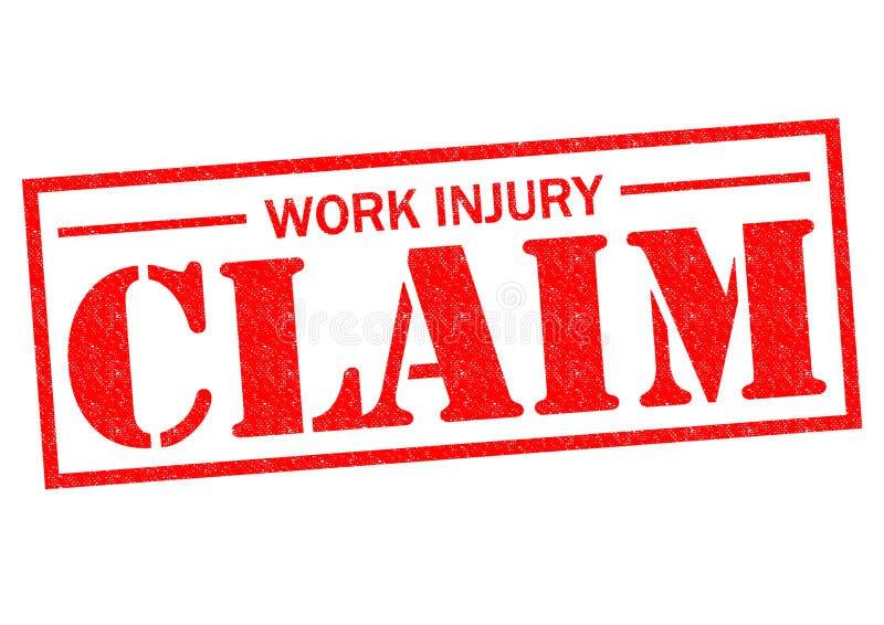 Réclamation de blessure de travail illustration de vecteur