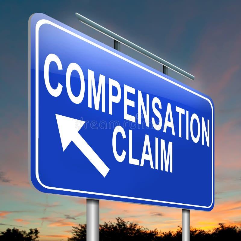 Réclamation de compensation. illustration libre de droits