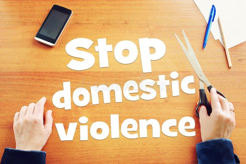 Réclamations de femme pour arrêter la violence familiale photo libre de droits
