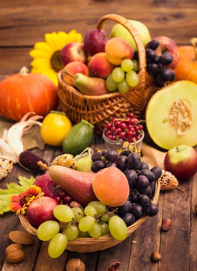 Récolte d'automne - fruits frais d'automne images libres de droits