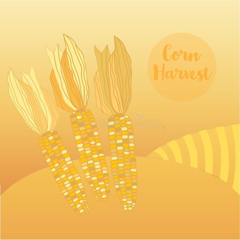 Récolte de maïs illustration de vecteur