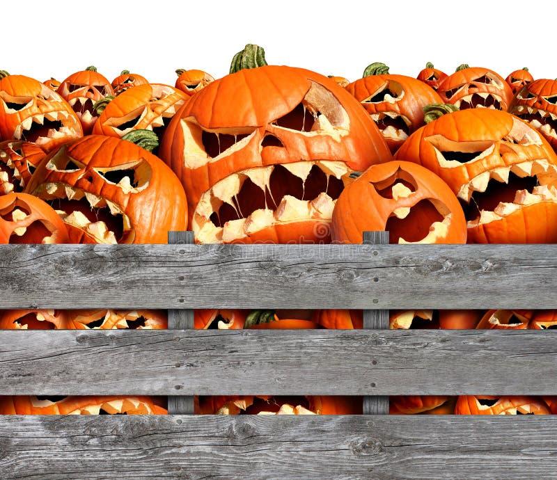Récolte de potiron de Halloween illustration de vecteur