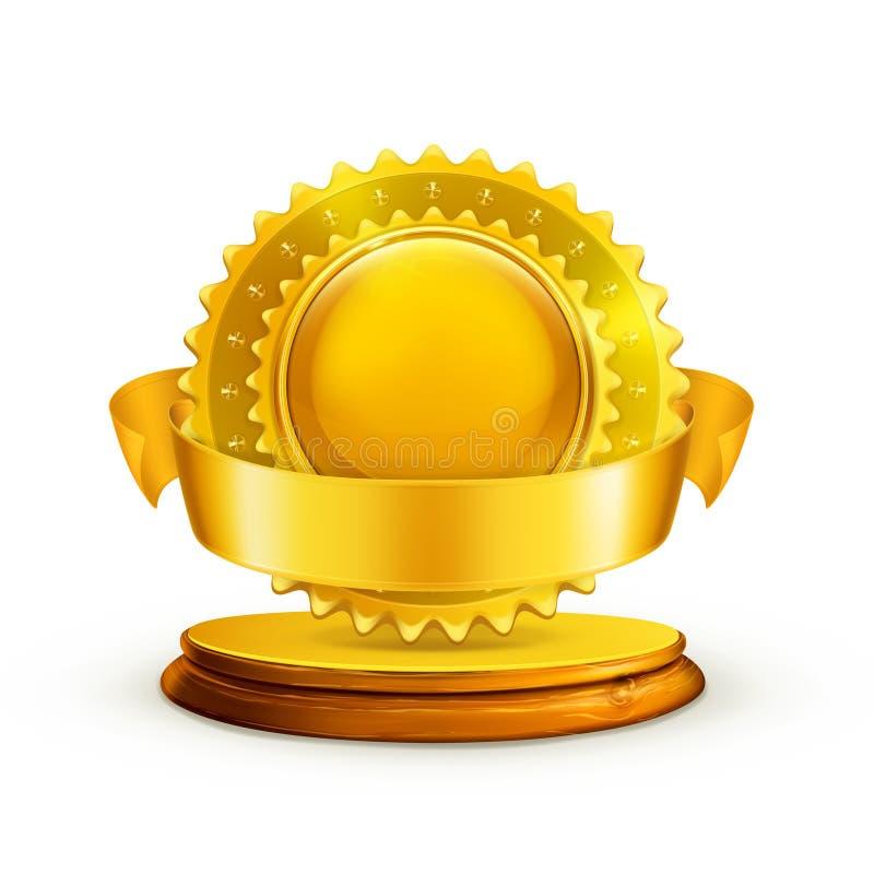 Récompense d'or illustration de vecteur