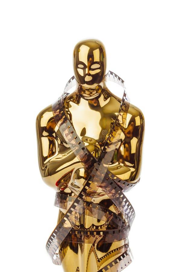 Récompense de cérémonie d'oscar et de film de cinéma image stock