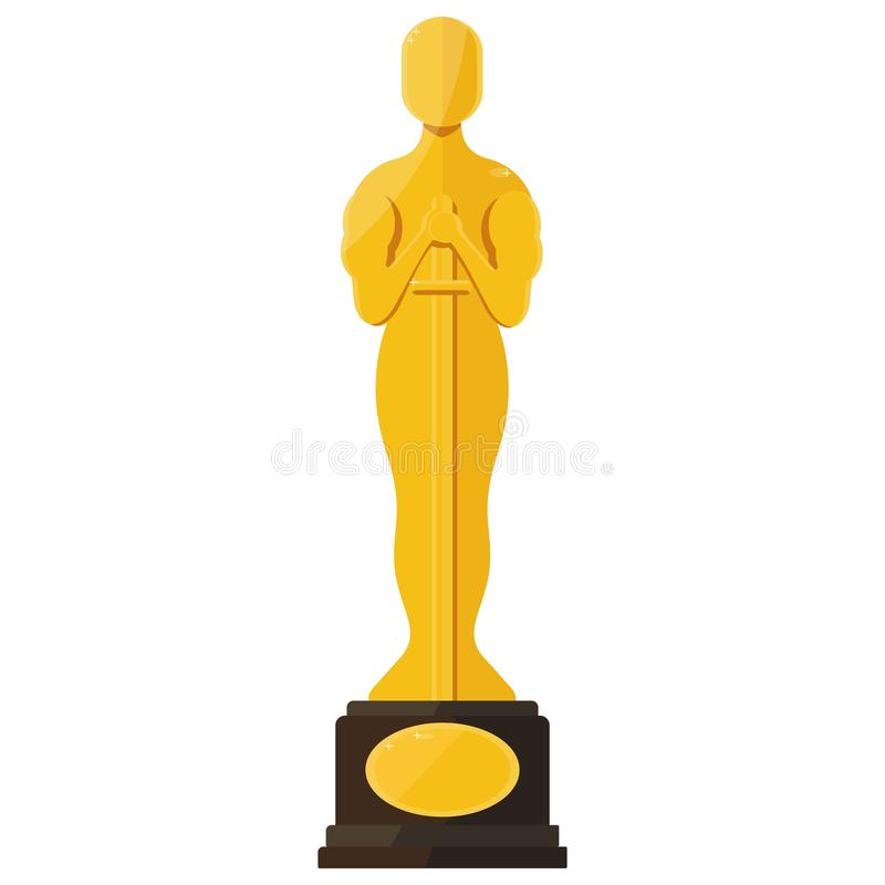 Récompense de festival de film d'oscar illustration stock
