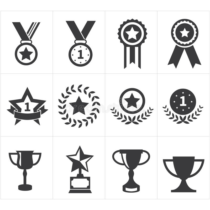 Récompense de trophée d'icône