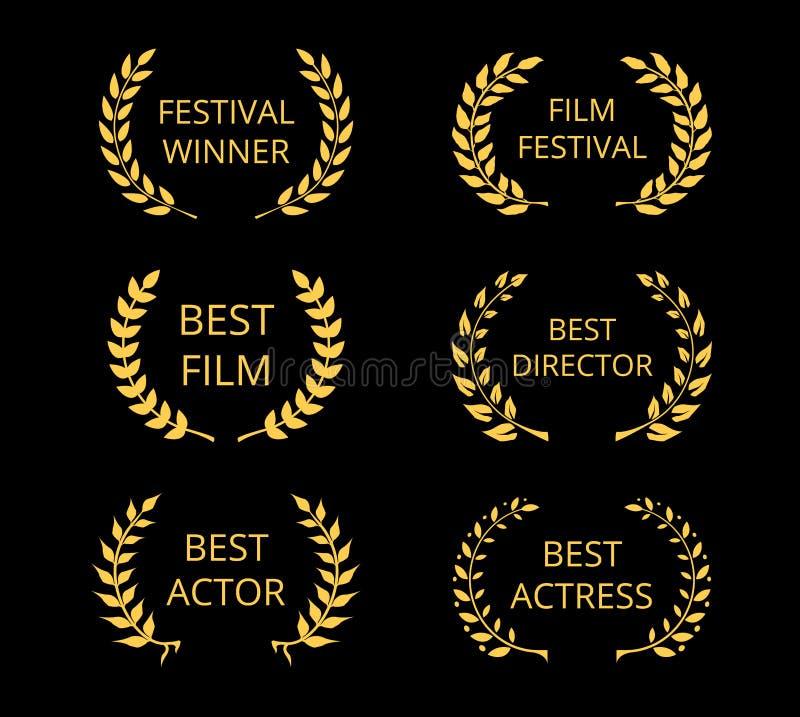 Récompenses de film illustration de vecteur