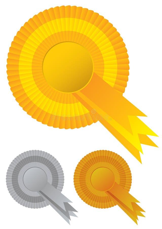 Récompenses de rosette de ramassage illustration de vecteur