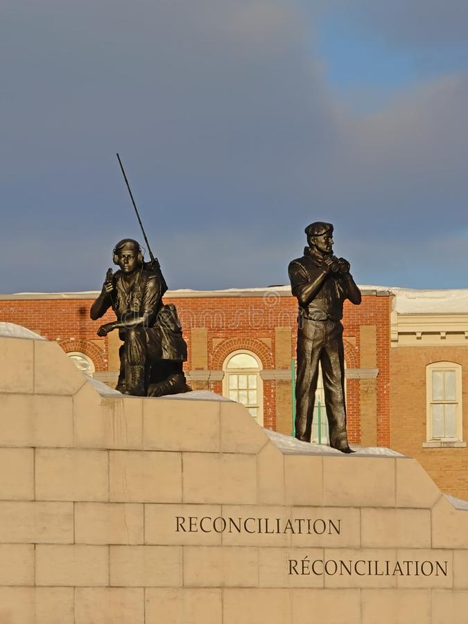 Réconciliation : Le monument de maintien de la paix, Ottawa, Canada images libres de droits
